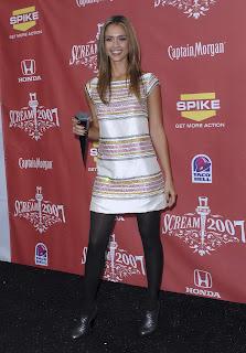 Jessica Alba in Black Nylons