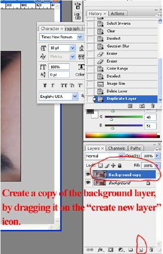 "Buka foto di photoshop dan copy ""background"" layer."