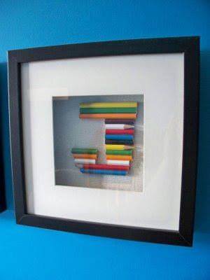 crafting and creativity pencil crayon wall art