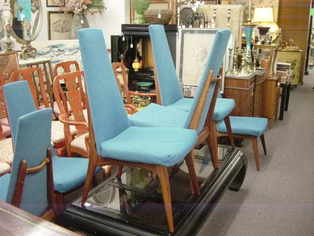 This Is A Fantastic SET OF 6 MID CENTURY DANISH STYLE HIGH BACK UPHOLSTERED  DINING CHAIRS. These Chairs Have Such A Unique Design And Interesting  Lines, ...