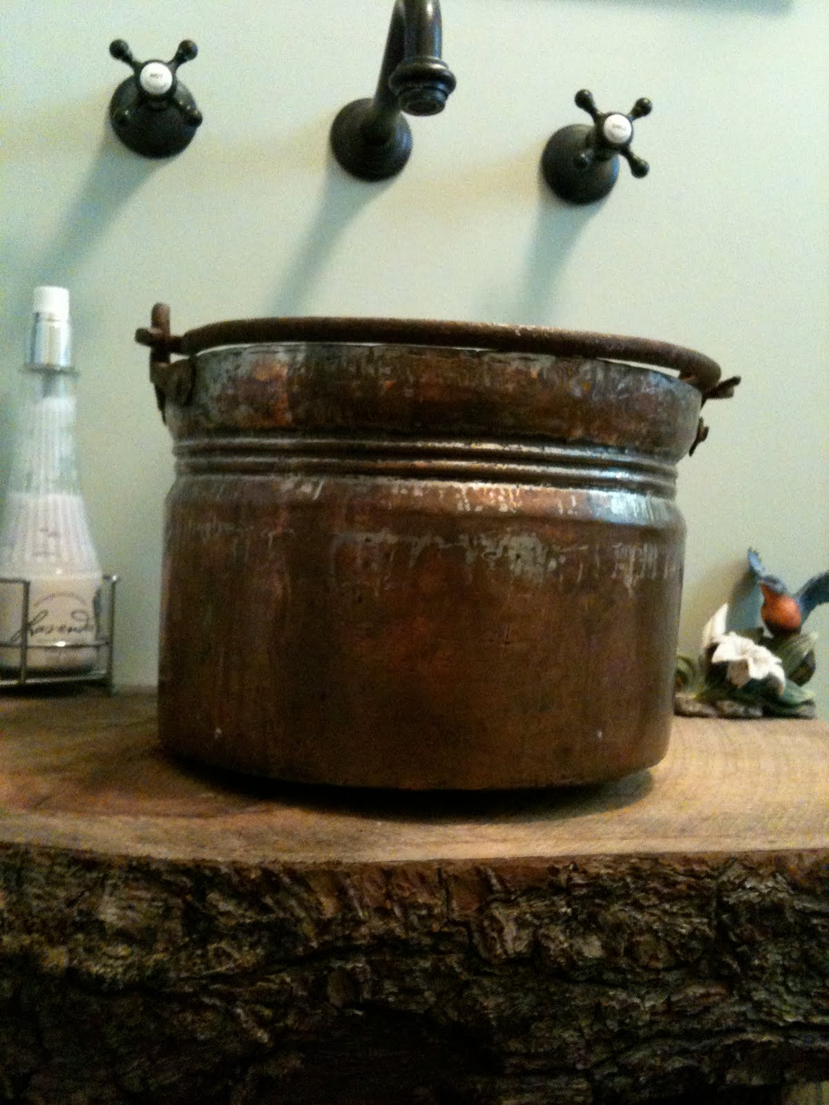 Bucket Vessel Sink : Copper Bucket Vessel Sink - The Pink Pixie Forest