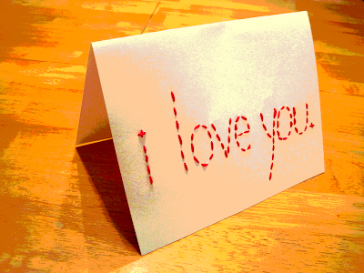 making cards: valentine's day embroidered cards!