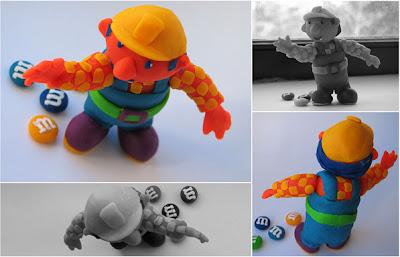 Clay art - bob the builder in play dough