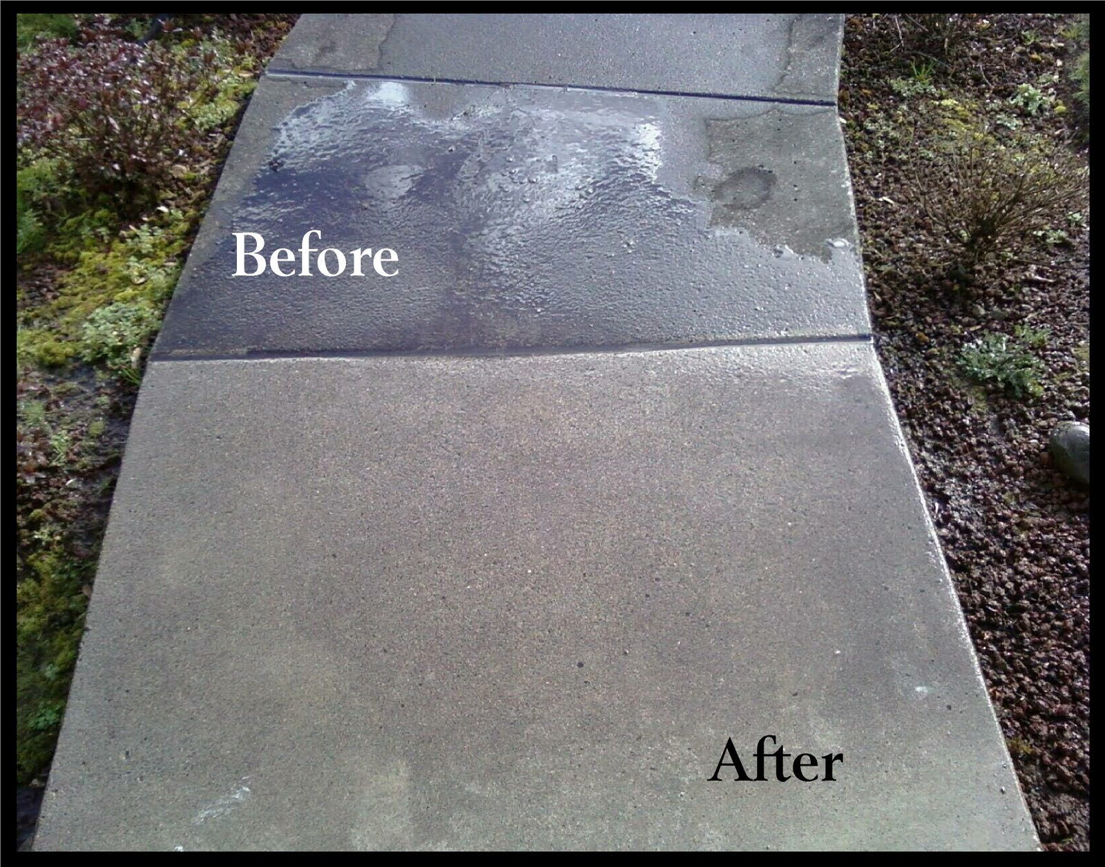 Hydro power wash concrete cleaning for Best way to power wash concrete