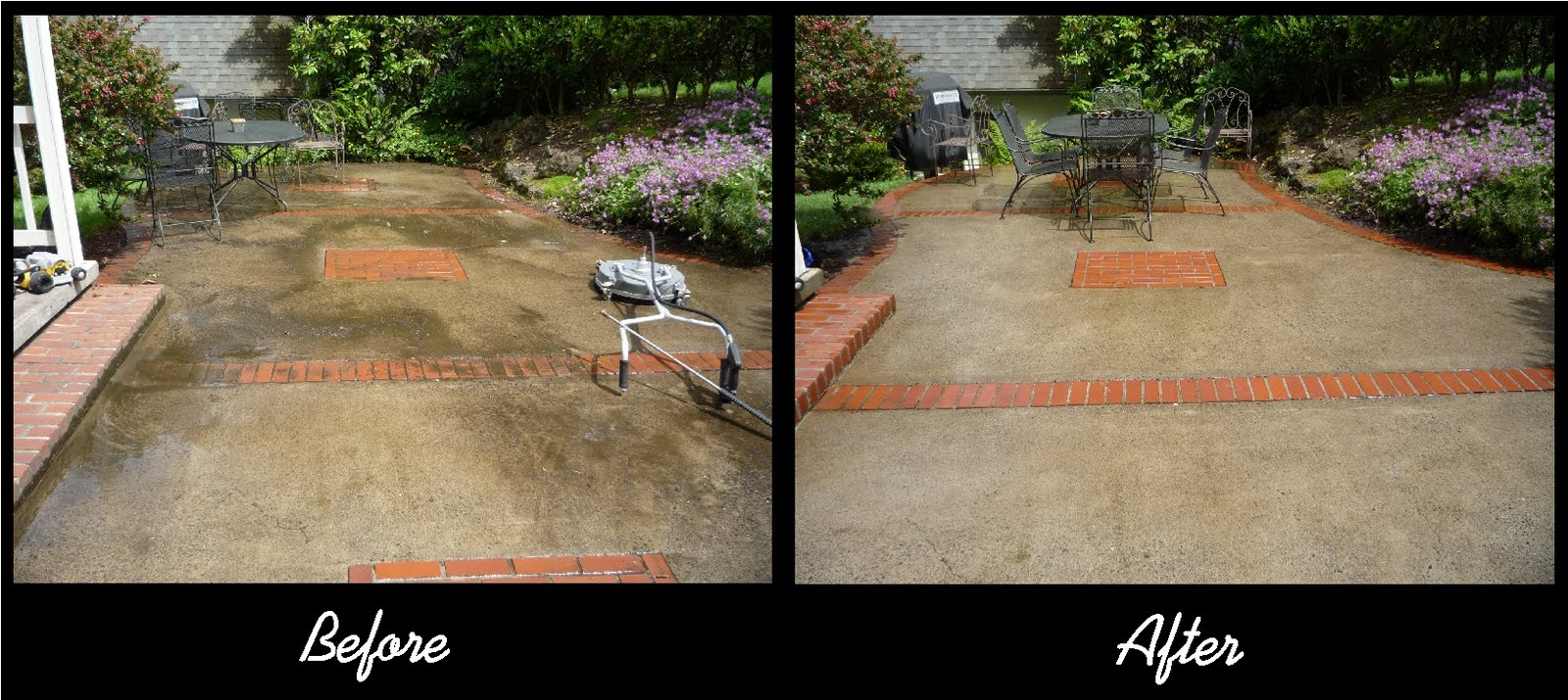 Hydro power wash patio for Pressure wash concrete patio