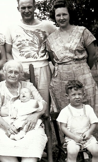 Belle with her son's family in 1950