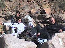 Con amigos en la montaña..