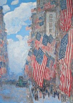 Vexillophilia flags and flag fun childe hassam 39 s flag for Do they have a 4th of july in england