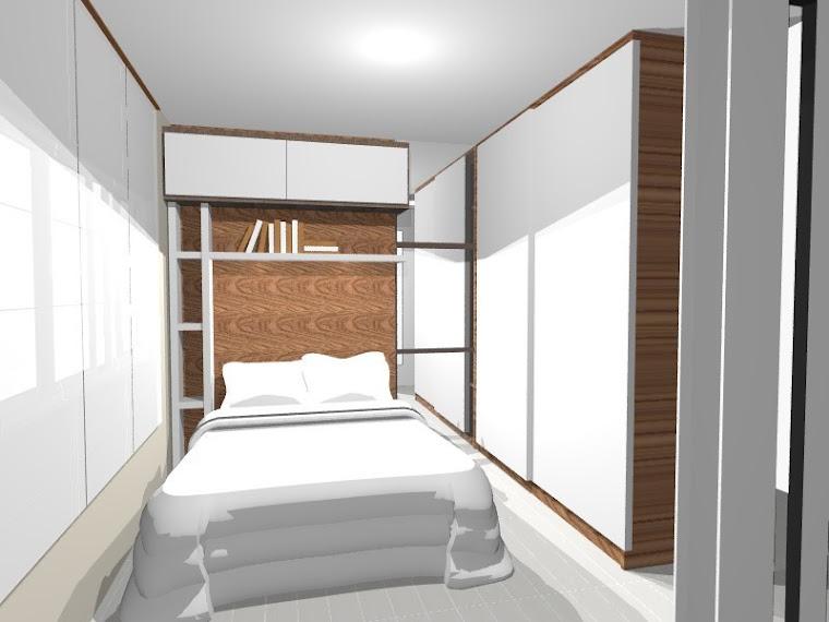 Quarto de casal - apartamentos pequenos