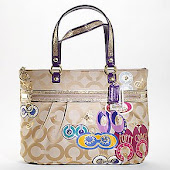 Coach Poppy Pop Applique Glam Tote 15307