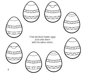 Easter designed eggs arranged in round kids coloring page free religious Easter clip arts and Christian pictures download