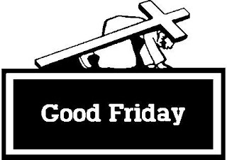 Good Friday clip art coloring page Jesus Christ carrying Cross free bible clip art pictures and Christian images