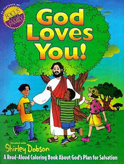 God Jesus Christ Loves you coloring book cover page with Jesus and Children drawing picture