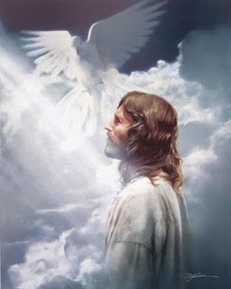 God Jesus Christ and angels in the sky of heaven inspirational religious Christian picture free download
