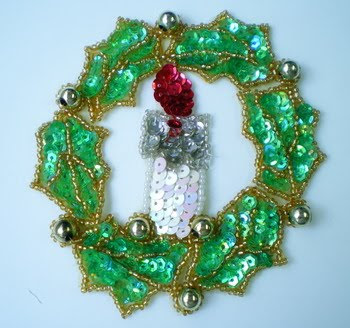 Green Christmas wreath decorated with Christmas ornaments free Christmas Christian image download