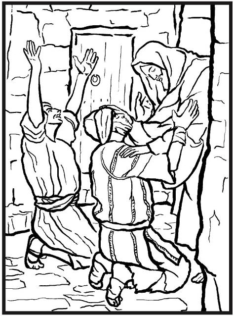 JESUS FOR HEALING COLORING PAGE