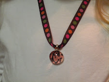 Pink Cheetah Chick Charm with ribbon necklace $9