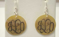 Engravable earrings $12 plus $5 for monogramming