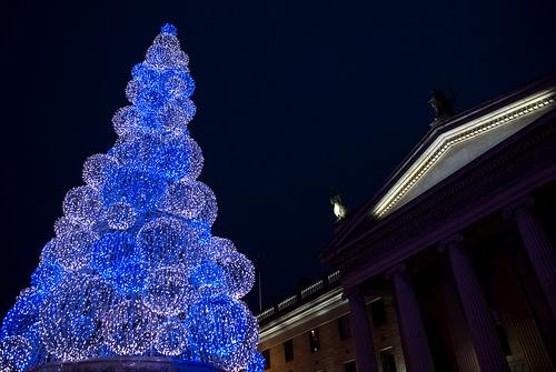 Image result for 60ft LED Christmas 'tree' lighted Dublin's skyline during the 2008 winter season