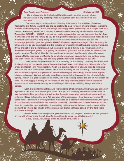 christmas card letter holliday decorations