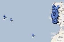 Mapas dos Blogues das Bibliotecas Escolares Portuguesas