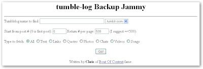 Tumble-log Backup