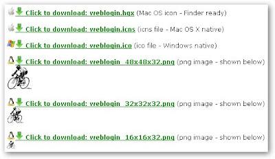 iConvert - Le icone di WebLogin