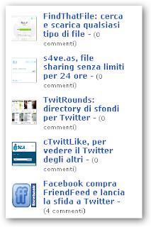 Blogger: widget dei post recenti con thumbnail