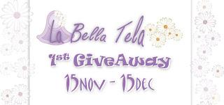 La Bella Tela 1st Giveaway