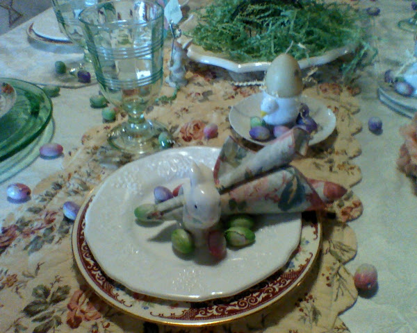 dining room Easter table