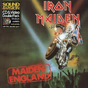 Portada Iron Maiden maiden england