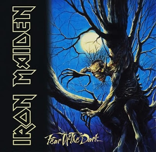 Portada Iron Maiden fear of the dark