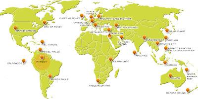 peta 7 keajaiban dunia baru