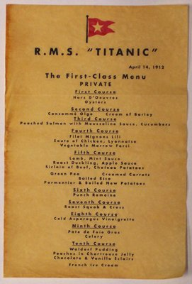 Lostpastremembered Punch Romaine On The Titanic