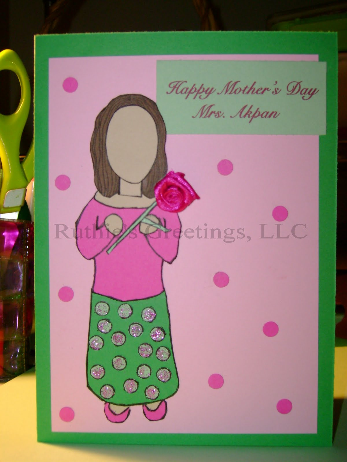 Mother 39 S Day Rose Handmade Card