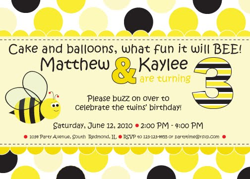 Whats all the buzz about inkberry creative inc cute as can bee bumble bee birthday party invitation available at inkberrycards or inkberrygirlsy filmwisefo