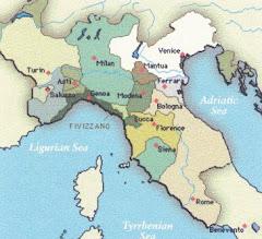 Mapa da Itália - Renascimento