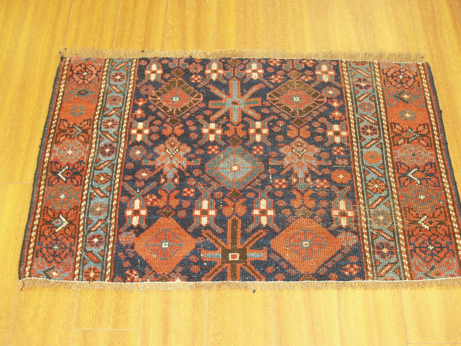 A Customer Brought In Very Old And Antique Hand Knotted Persian Hamadan Runner Wanted Us To Cut It Shorten The Length Of This Beautiful