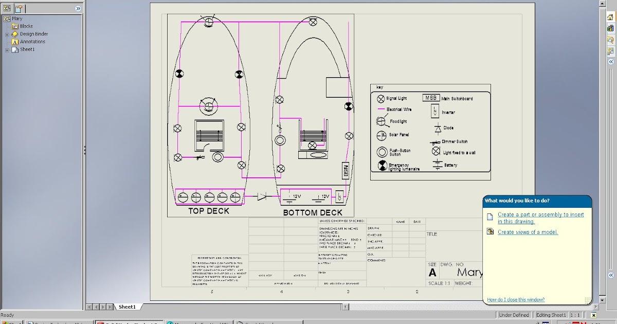 design technology materials e portfolio solidworks boat wiring diagram