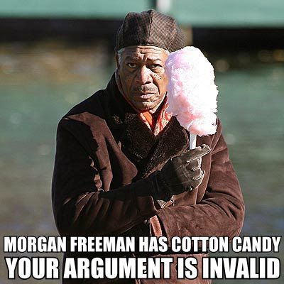 Hah, it was the neighbor who killed it Morgan+Freeman+Cotton+Candy+From+Faceofthecookie
