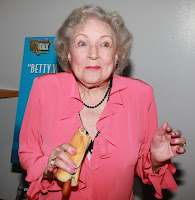 Betty White  attended the opening of Pinks Hot Dogs in Universal City on ... 