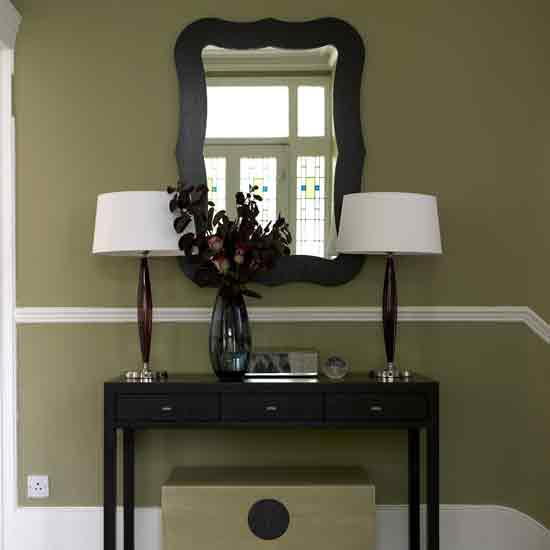 Hallway Decorating Ideas in Green