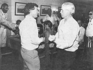 Piru Gainza fue la mano derecha de Javi Clemente cuando éste último se hizo cargo del banquillo rojiblanco (Piru y Clemente celebrando el Título de Liga de 1983)