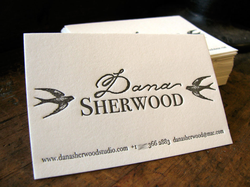French press blog business cards dana sherwood letterpress business cards for ny artist dana sherwood who was in buffalo for an exhibit at buffalo arts studio a local not for profit arts organization reheart Gallery