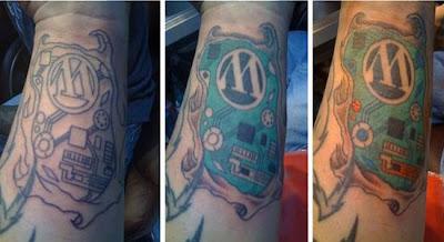 Best Wordpress Logo Tattoo Design