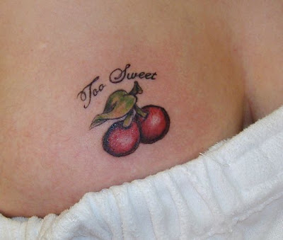 symbol is a mix-up of love fruits and cherries. And this cherries tattoo