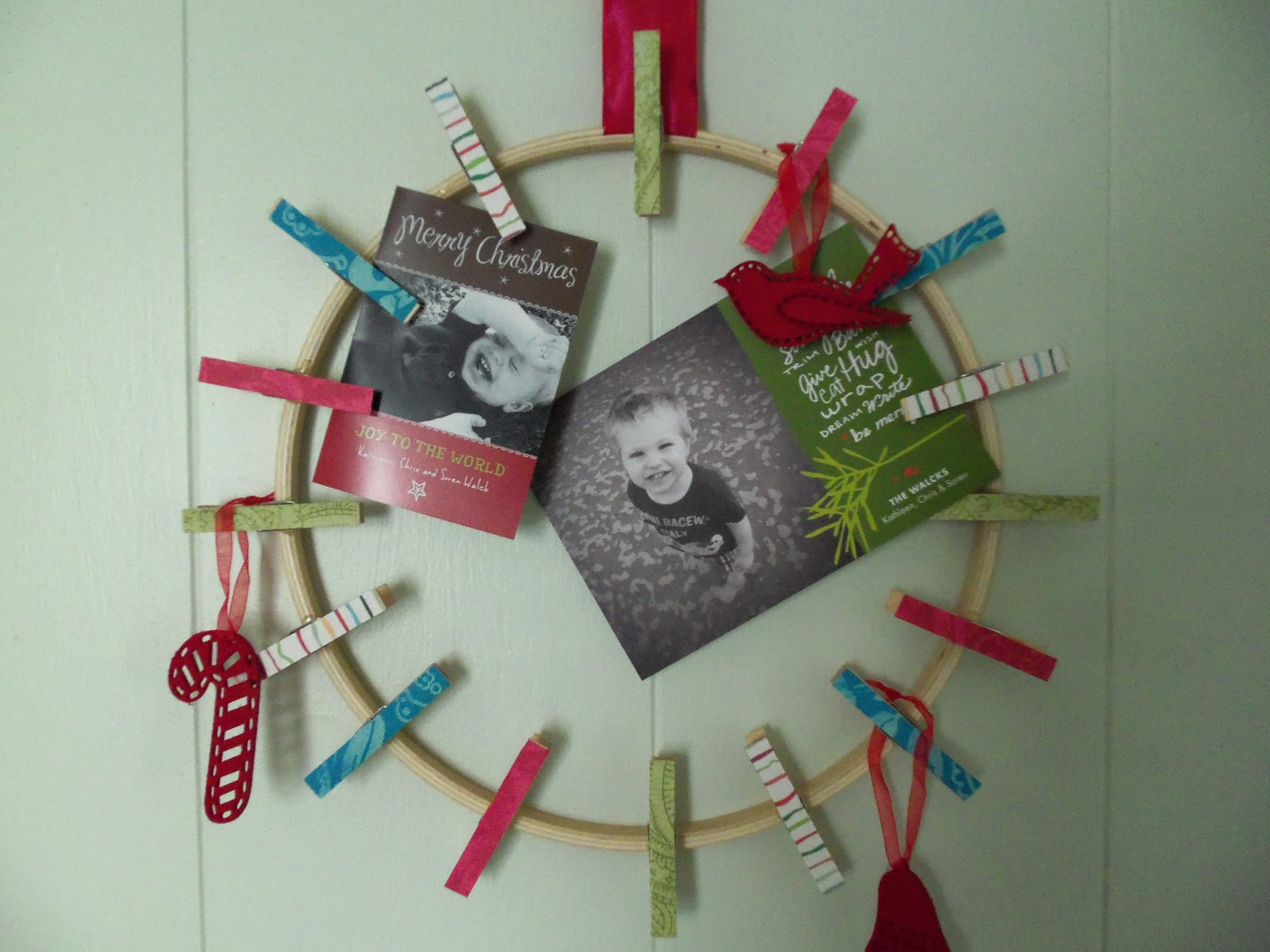 diy christmas card holder from katydid kid