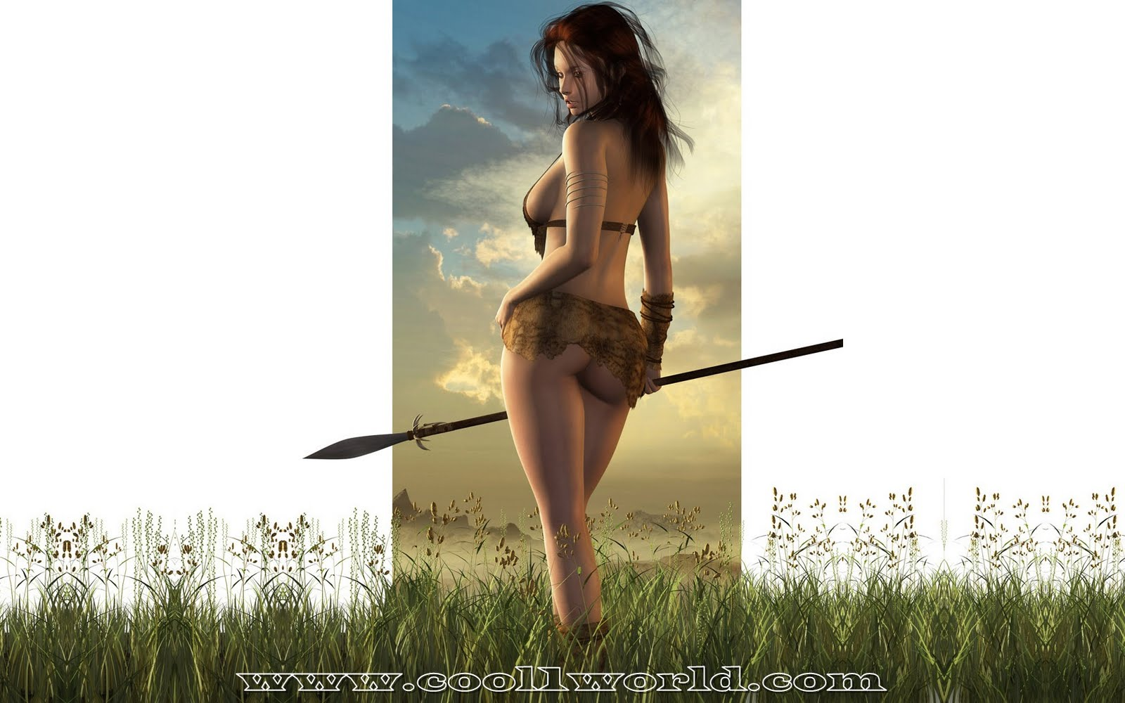 Sexy warrior girl screensaver sexy photos