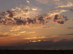 Sunset over Lake Michigan, 8-6-08