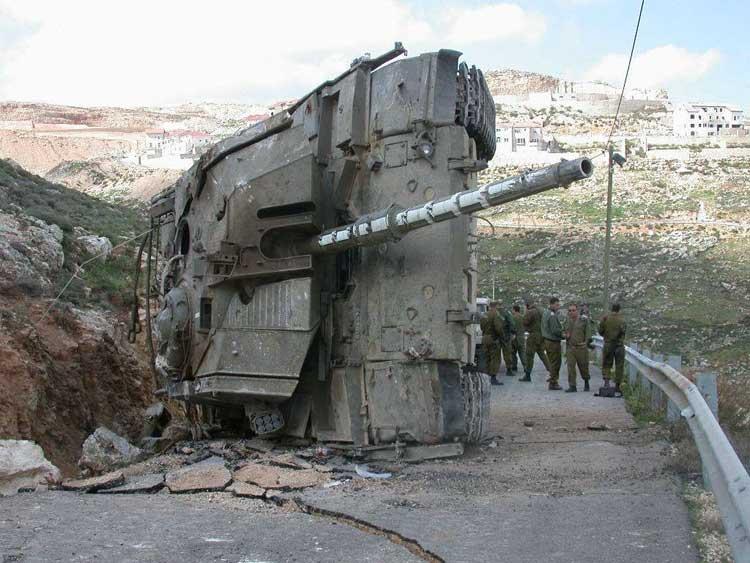 اللغم الالكترونى المضاد للدبابات  Israeli-tank